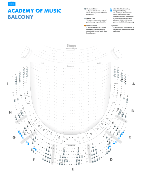 small resolution of academy of music balcony seating chart