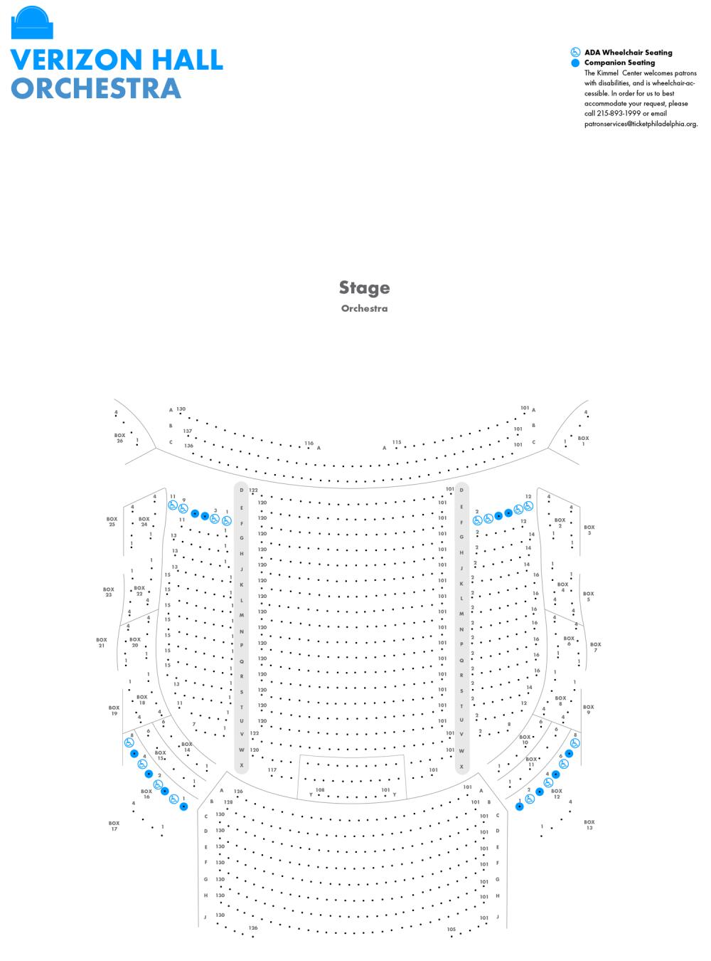 medium resolution of image of verizon hall orchestra level seating chart