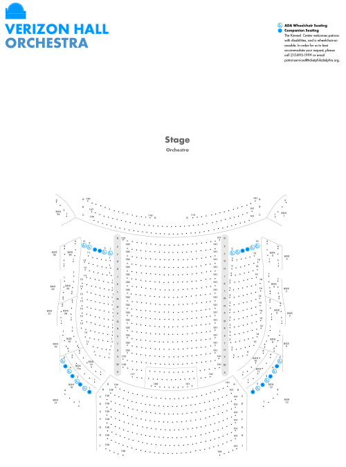 small resolution of image of verizon hall orchestra level seating chart