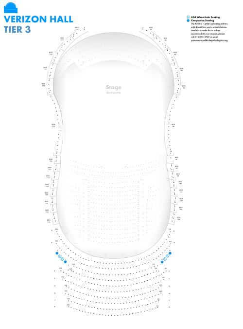 small resolution of verizon hall third tier seating chart