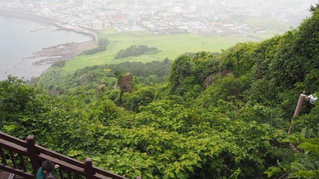 Descending hill