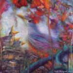 limited edition prints by Kim Novak - Deja Vu: Original Painting in pastel over watercolor by Kim Novak. Copyright 2014 Kim Novak, all rights reserved.