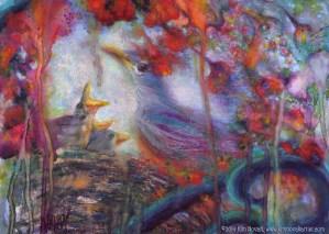 """Deja Vu,"" Original Painting in pastel over watercolor by Kim Novak"
