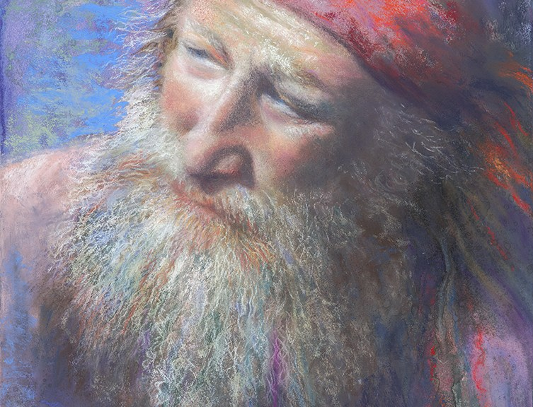 Mountain Man, Original Painting by Kim Novak. Copyright 2014 Kim Novak. All rights reserved.