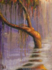 Once Upon A Time, Original Painting of a tree woman in pastel over watercolor by Kim Novak. Copyright 2014 Kim Novak. All rights reserved.