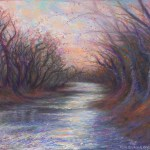 limited edition prints by Kim Novak - River Dancers, Original Painting of trees dancing on the banks of a river by Kim Novak. Copyright 2014 Kim Novak. All rights reserved.