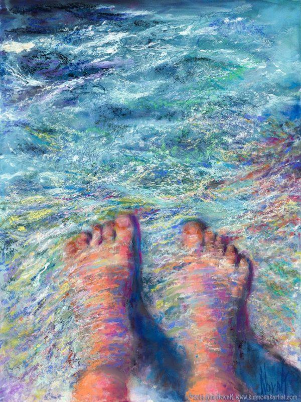 Water Flowing Watercolor Paintings