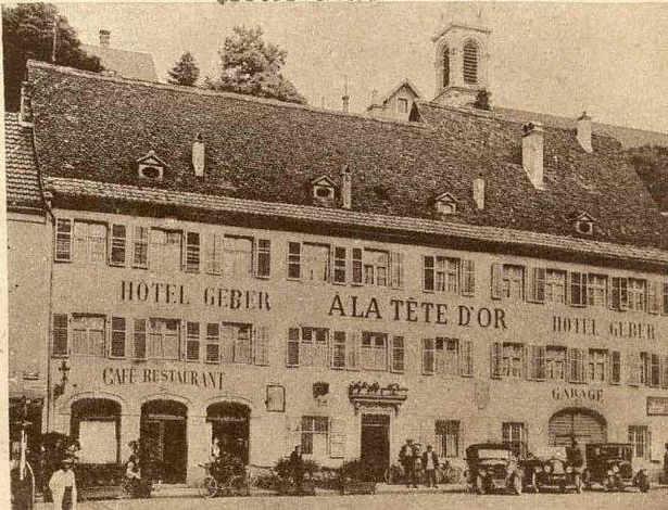 Francuski kuzyn kawalerem Legii Honorowej - budynek Hotelu Geber w Altkirch rok 1923