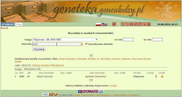 Jak szukać w Genetece przekręconych nazwisk
