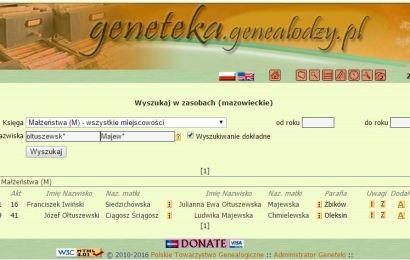 Wyszukiwanie w Genetece – bazie PTG