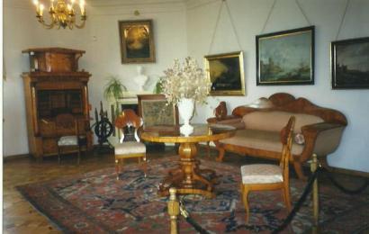 Pałac w Śmiełowie - salonik kominkowy