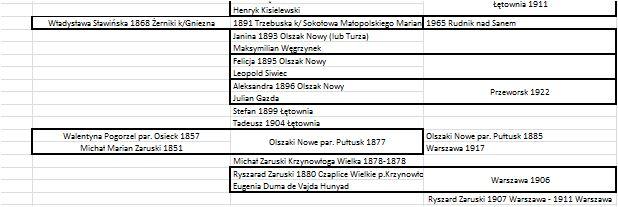 Jak zapisać drzewo genealogiczne w Excelu ow