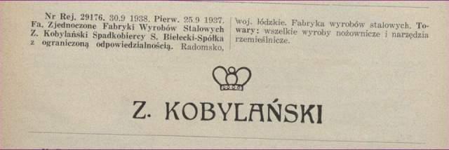 Z. Kobylański spadkobiercy