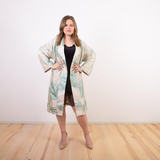 Seiden-Kimono | Jade-Muster | Credits: KimonoManufaktur