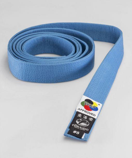 cinturón de competición azul tokaido wkf apto para competir