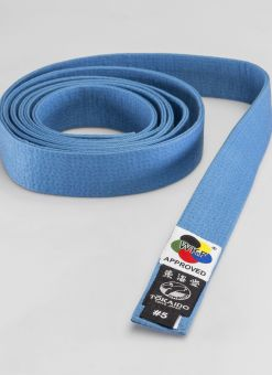 blue tokaido wkf racing belt fit to compete