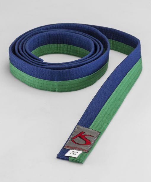 cinturón verde - azul para artes marciales válido para la competición