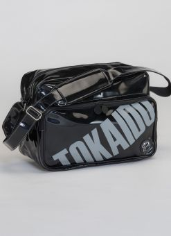 bolsa de charol mediana tokaido negra