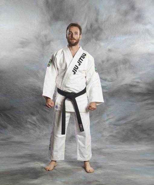 jiu - jitsu gi brasileño blanco en dos piezas