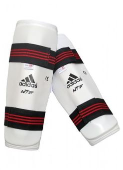 espinilleras Adidas para taekwondo - Blancas