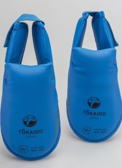 Chaussons bleus Tokaido WKF avec Velcro