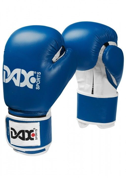 guantes junior de boxeo DAX de color azul
