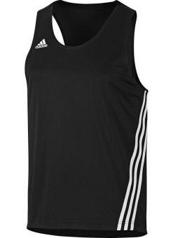 camiseta sin mangas adidas de color negro