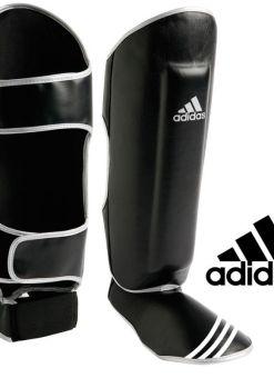 espinillera Adidas polipiel con empeine - negra