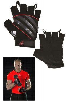 guantes de entrenamiento fitness adidas performance - negro/rojo