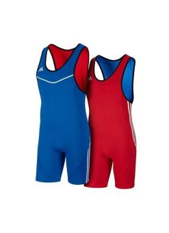 malla lucha adidas wrestler reversible rojo-azul