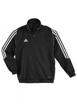 chaqueta de deporte adidas t12 negra para niños