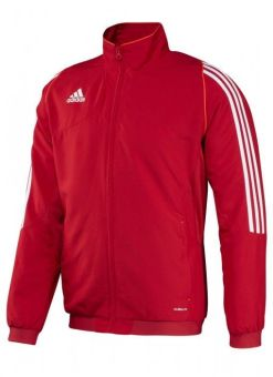 chaqueta deportiva adidas t12 roja hombre para entrenar