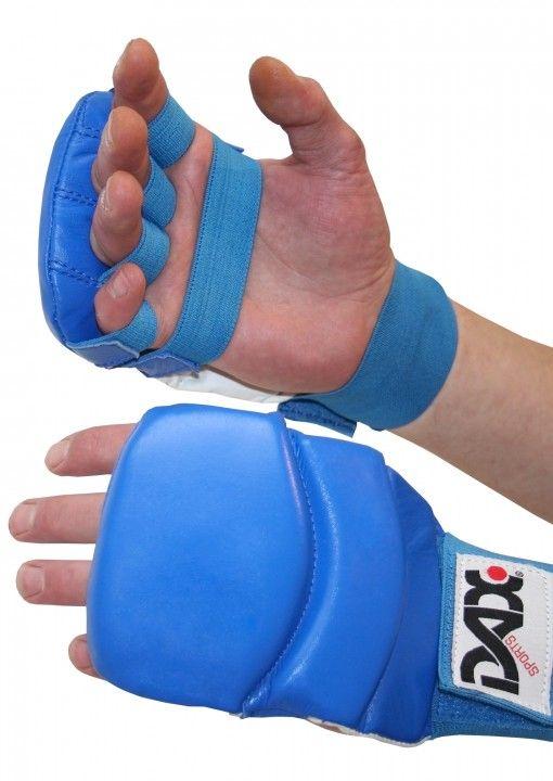 guantes dax kumite 4 de jiu jitsu de color azul