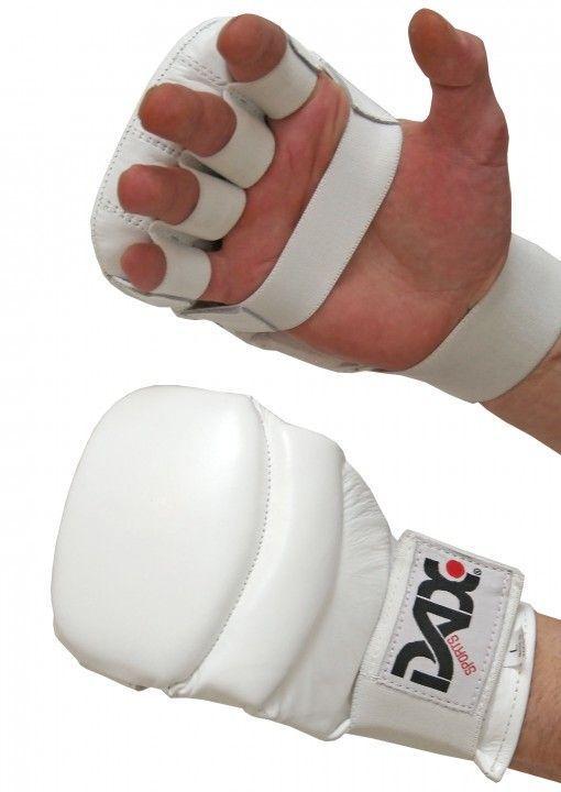 guantes de jiu jitsu dax kumite 4 de cuero blancos