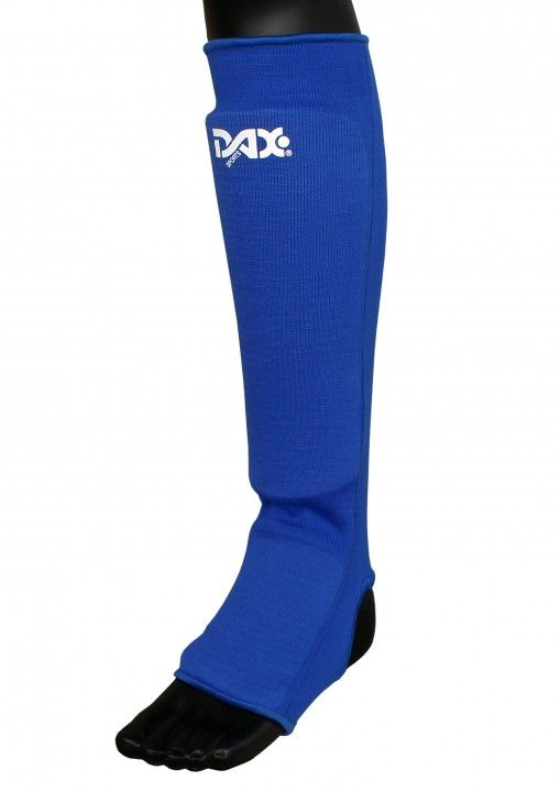 espinillera elástica DAX, azul - Kick-Boxing