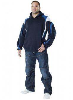 sudadera capucha DAX - azul