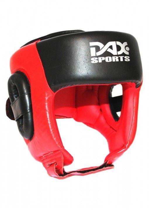 Casco de Boxeo DAX -rojo/negro