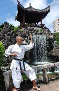Herraiz en Fukushu Enn, Okinawa.