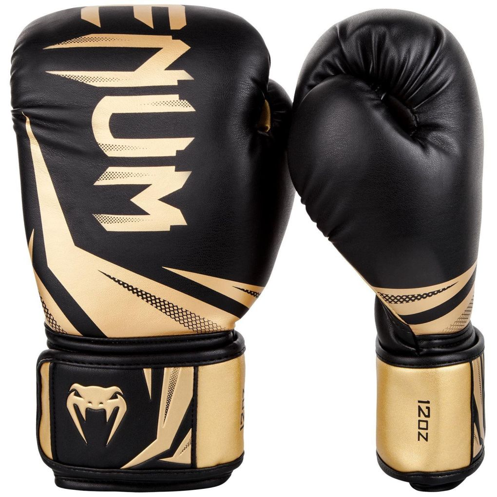 Venum Challenger 3.0 Black-Gold Boxing Gloves