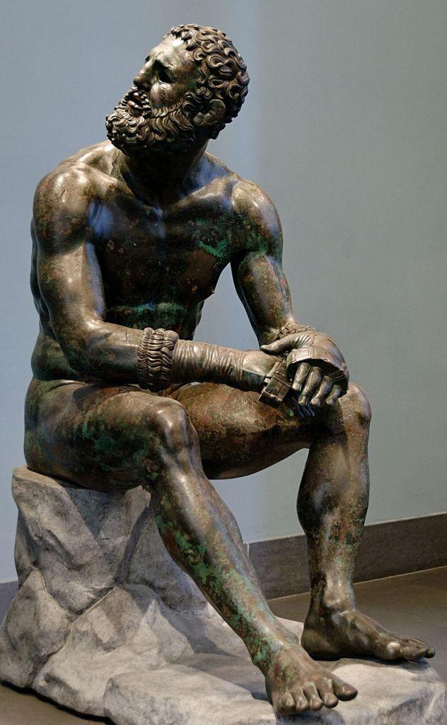 Boxeador en la antigüedad. Como comprar unos guantes de boxeo