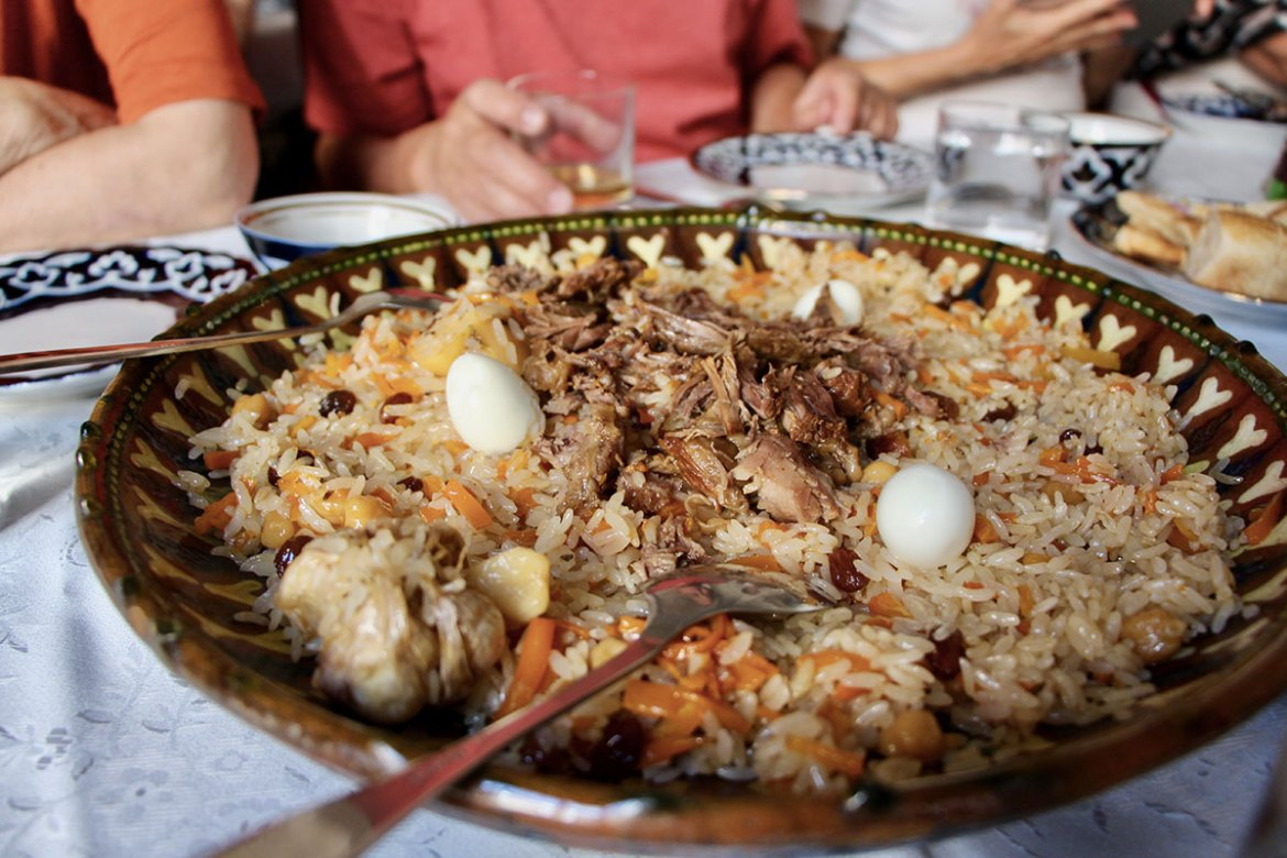 Le plat traditionnel Ouzbék : le plov