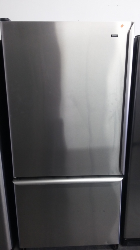 KENMORE 33 STAINLESS BOTTOM MOUNT REFRIGERATOR OUT OF