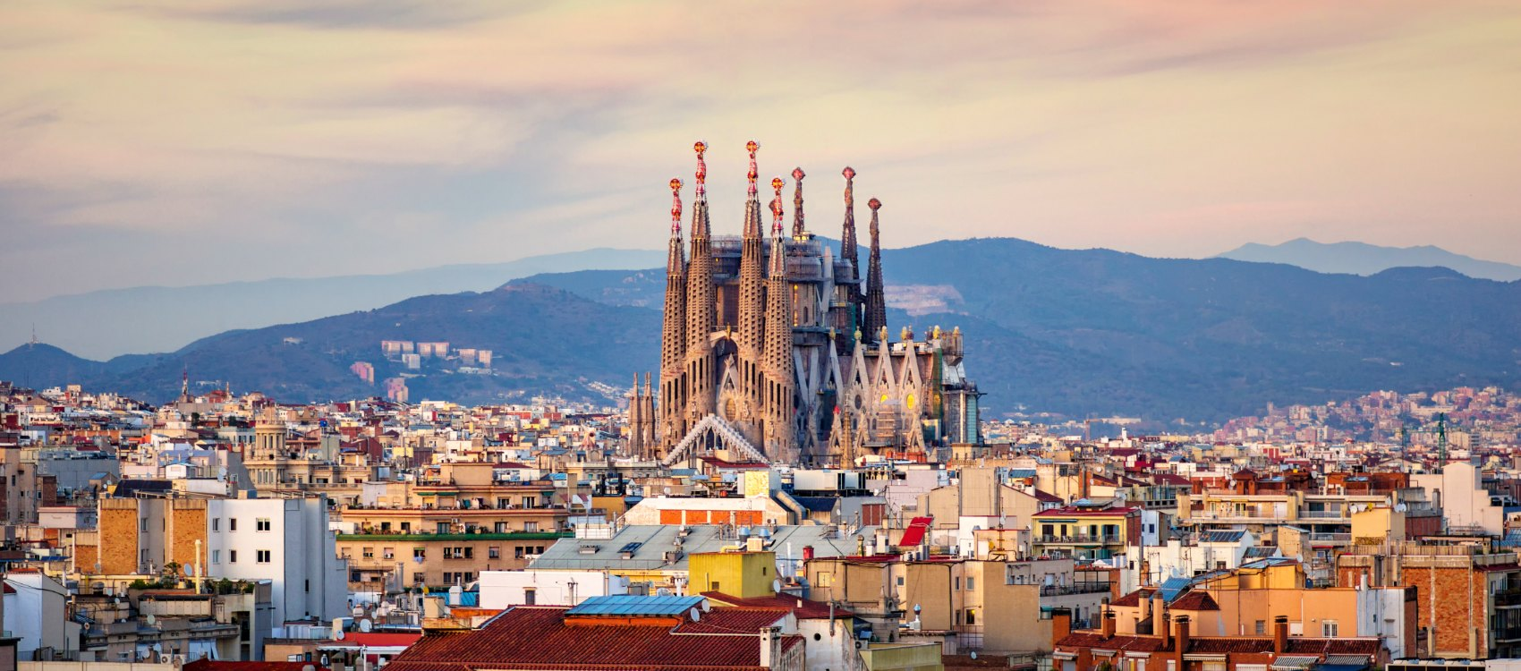 Sunset Wallpaper Hd Barcelona Skyline Life Is Suite