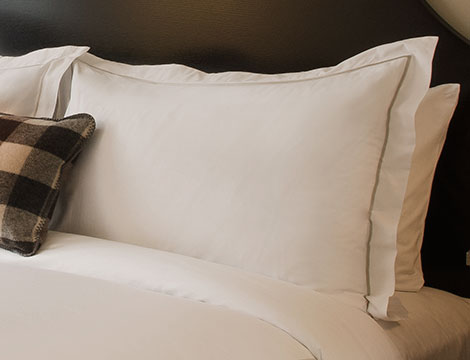grey embroidered pillow shams kimpton style