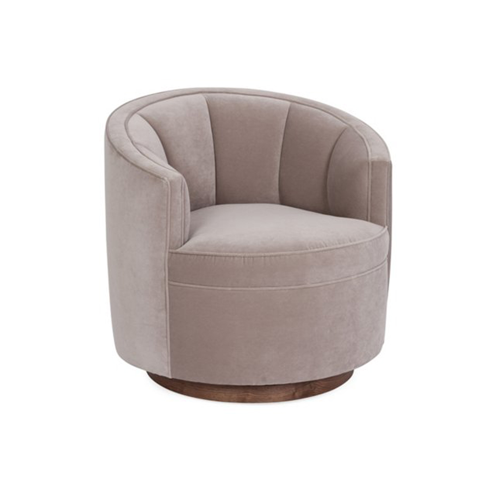 swivel chair dimensions foot massage jackie marlon dove velvet kim salmela atelier shop the look