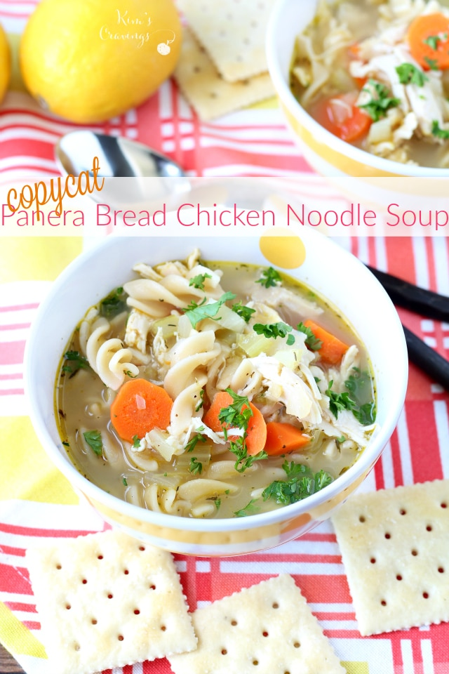 share this copycat panera bread chicken noodle soup with all of you