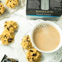London Fog Tea + Paleo Pumpkin Chocolate Chip Cookies