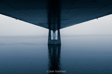Below the bridge