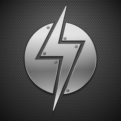 Abstract metal lightning background.