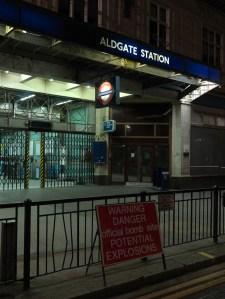 'Warning (Aldgate)'